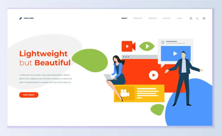 Website design trends Lightweight but Beautiful