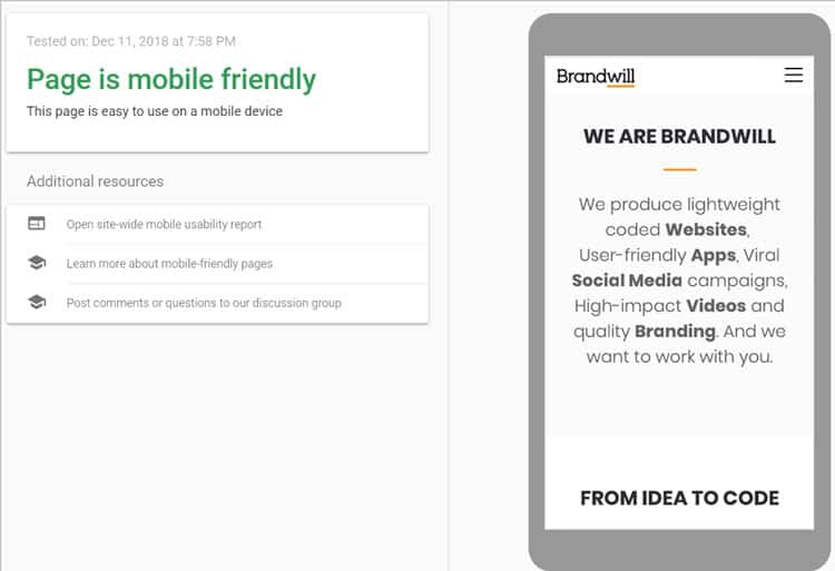 Brandwill Mobile Friendly