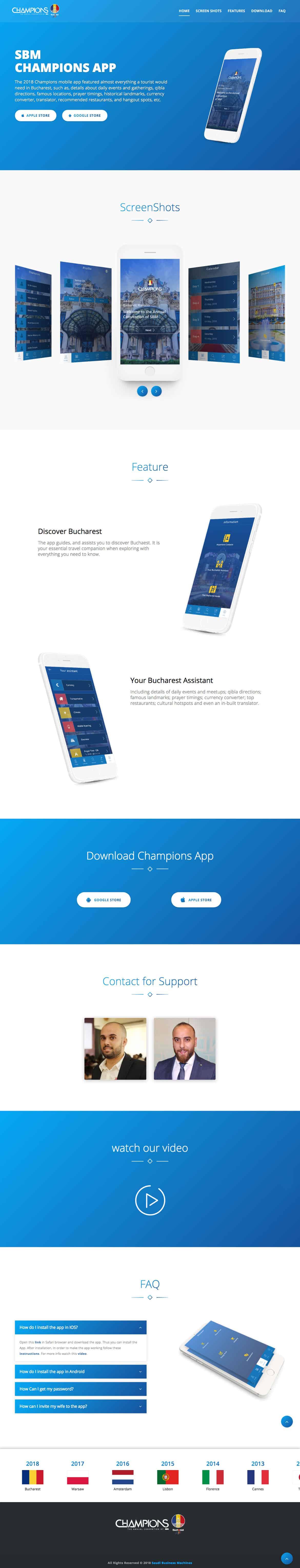 Champions-App-Landing-Page