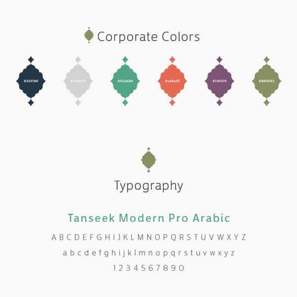 الألوان الخاصة بشركة جبل عمر للتطوير